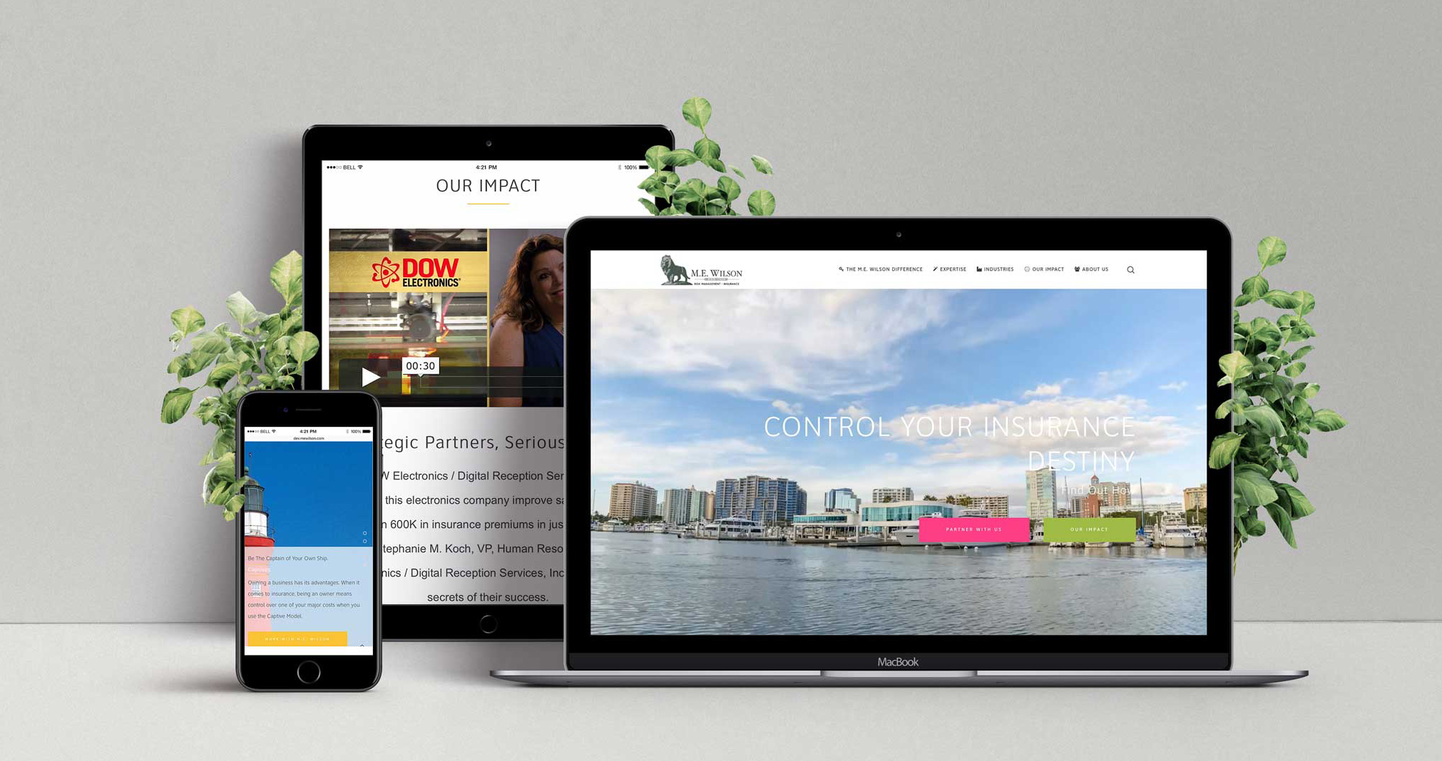 laptop, ipad, iphone show responsive website design